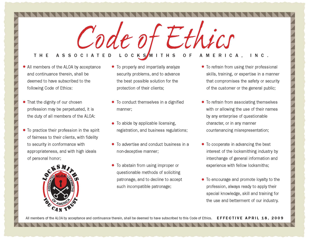ALOA Code of Ethics